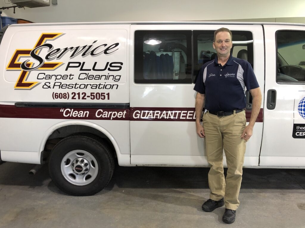 Service PLUS Carpet Cleaning - Joe and his truck!